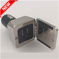 CCH001 DUAL SQUARE METAL CAR CHARGER