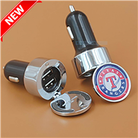 CCH002 DUAL ROUND METAL CAR CHARGER