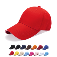 HDW005 CONST 6 PANEL COTTON SANDWICH CAP