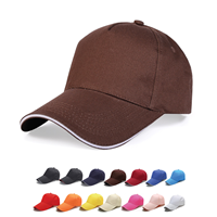 HDW006 NEVASO 5 PANEL HEAVY COTTON SANDWICH CAP