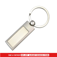KRS004  SILVER PANEL KEY RING
