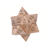 WDP012 STAR WOODEN PUZZLE